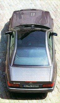 Mercedes со стеклянной крышей