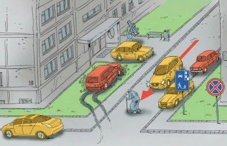 В каких местах запрещена парковка авто на дворовой территории